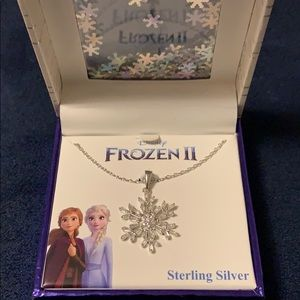 Frozen II Sterling Silver Snowflake Necklace